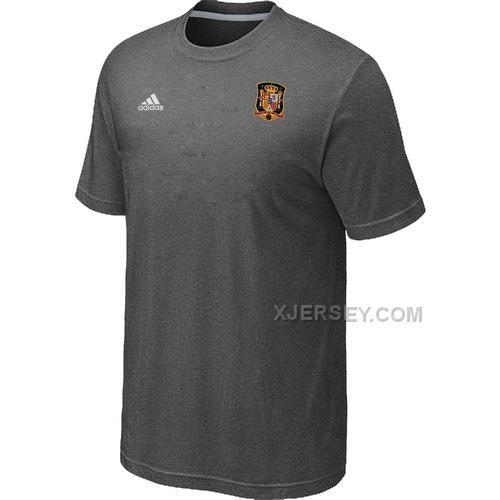 http://www.xjersey.com/adidas-national-team-spain-men-tshirt-dgrey.html ADIDAS NATIONAL TEAM SPAIN MEN T-SHIRT D.GREY Only $27.00 , Free Shipping!
