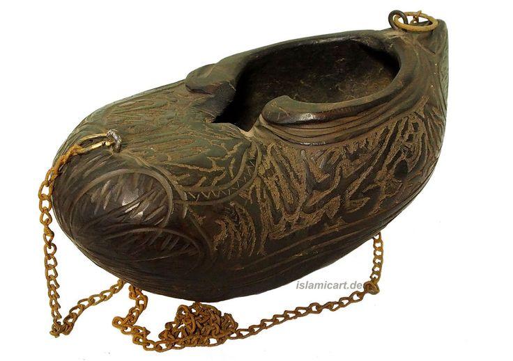 Islamic Bettelschale Kashkul Kashkool wooden Begging Bowl Sufi Dervash No:6
