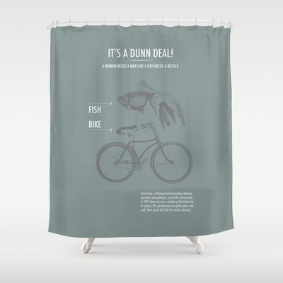 It's a Dunn Deal! Shower Curtain by Nameless Shame - $68.00