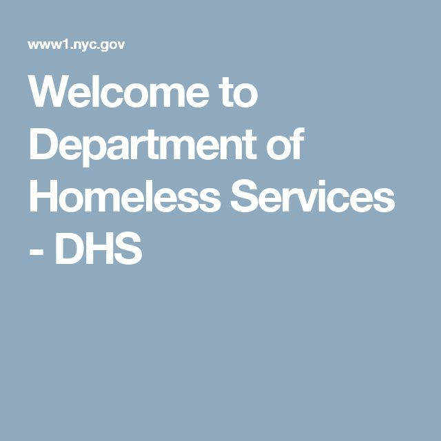 Welcome to Department of Homeless Services - DHS