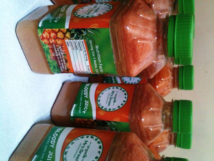 #bloodyjuicy #organic #coldpressed #mrsgreen #fresh #veggie #rawjuice