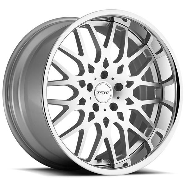 20 Inch RASCASSE SILVER RIM with MACHINE FACE and CHROME STAINLESS LIP Rim Wheel (Rim) and Tire Packages - Big Rims for your 2010 AUDI S4 3.0 - Wheel and Tire Packages - Rim and Tire Packages for your Car, Truck or SUV with Free Shipping from Performance Plus Wheel and Tire