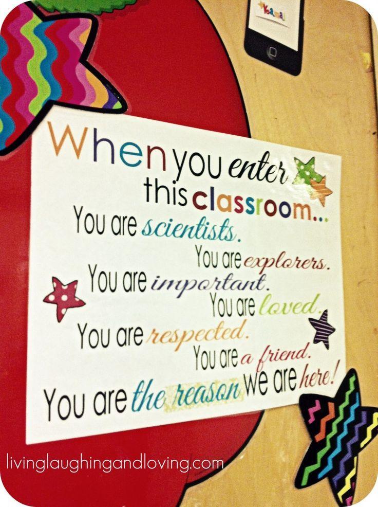 Free sign for classroom door