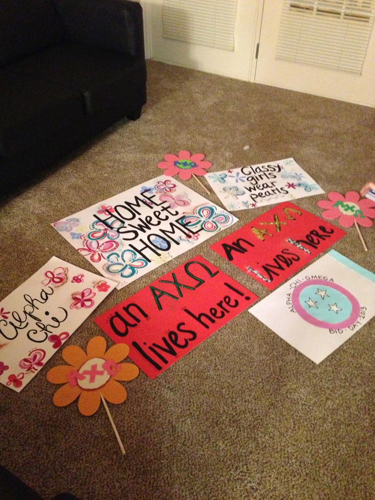 Bid Day Posters and Door Decorations #AlphaChiOmega #BidDay