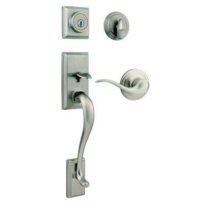 Weiser GLA9471 HE/TC15 SMT Hawthorne SmartKey Satin Nickel Residential Single-Lock Keyed Door Handleset