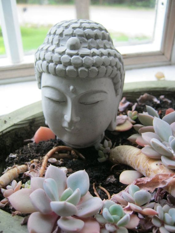 Small Buddha Head - Meditating Art Statue