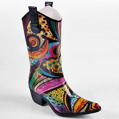 Journee Collection Midcalf Cowboy Rain Boots