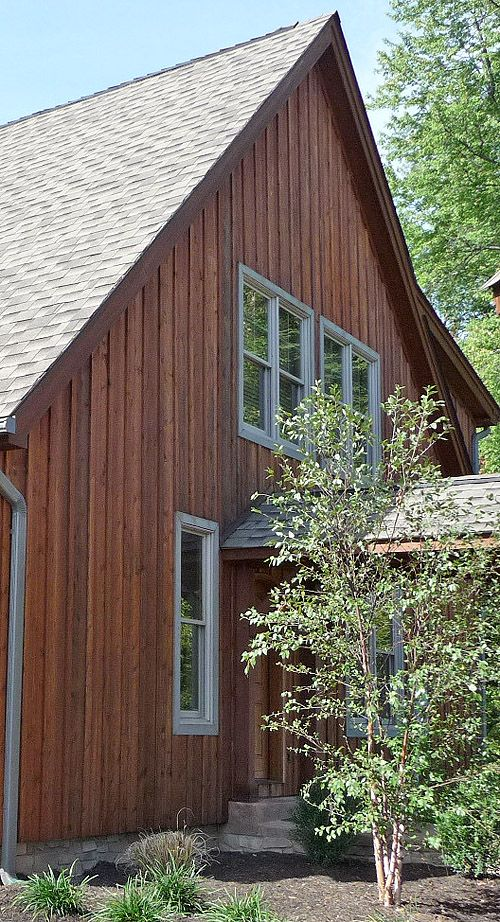 vertical wood siding