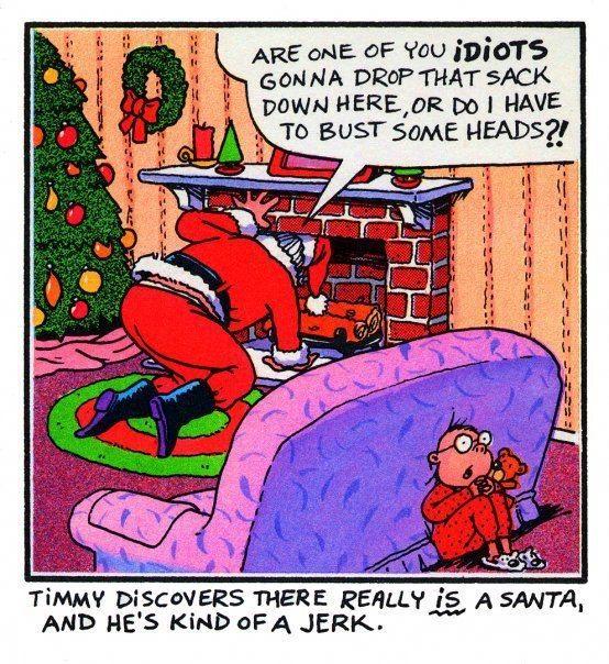 adult christmas jokes and cartoons   Bert, aged 25. 'My wife's an angel'.