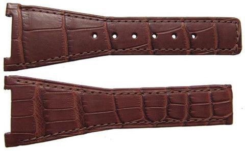 Omega Watch Strap 28mm Alligator - Brown Deployment
