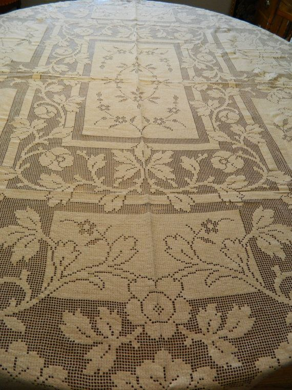 Vintage Lace Tablecloth 1930s Very Good Condtion by 19piglet64