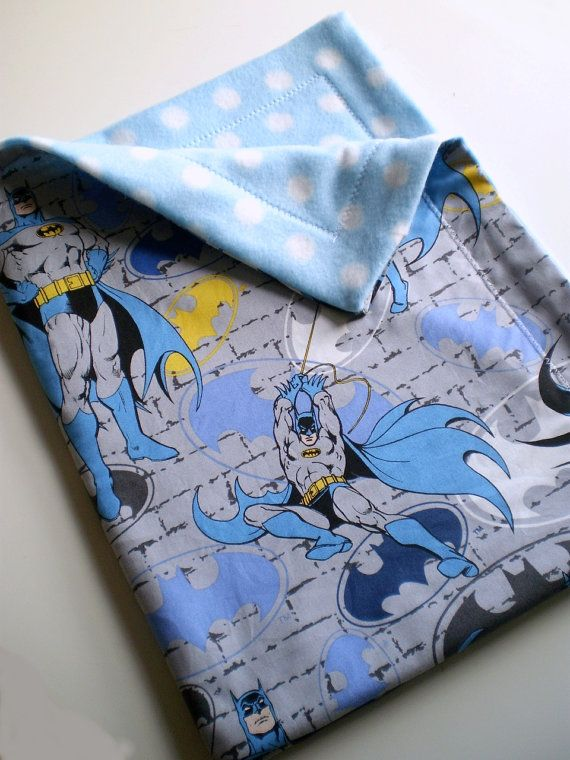 batman baby blanket superman on reverse side would be adorable!