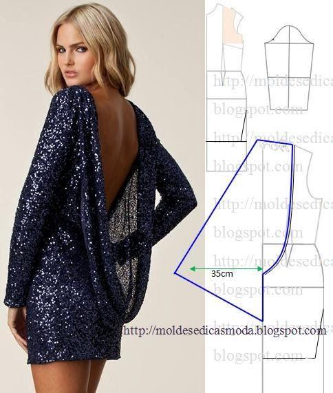 Plantillas de moda para medirla: Transformación DE VESTIDOS _80
