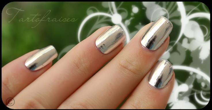 silver nail polish: Nails Nails, Silver Nail Polish, Real Nails, Silver Nailpolish, Silver Nails, Hair Nails Makeup, Nails Polish, Artful Nails, Nail Art