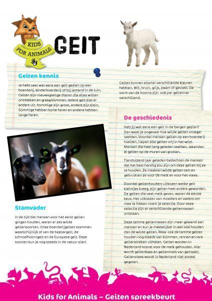 Kids For Animals - Spreekbeurten