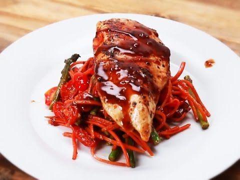 One-Pan Balsamic Chicken & Veggies - YouTube