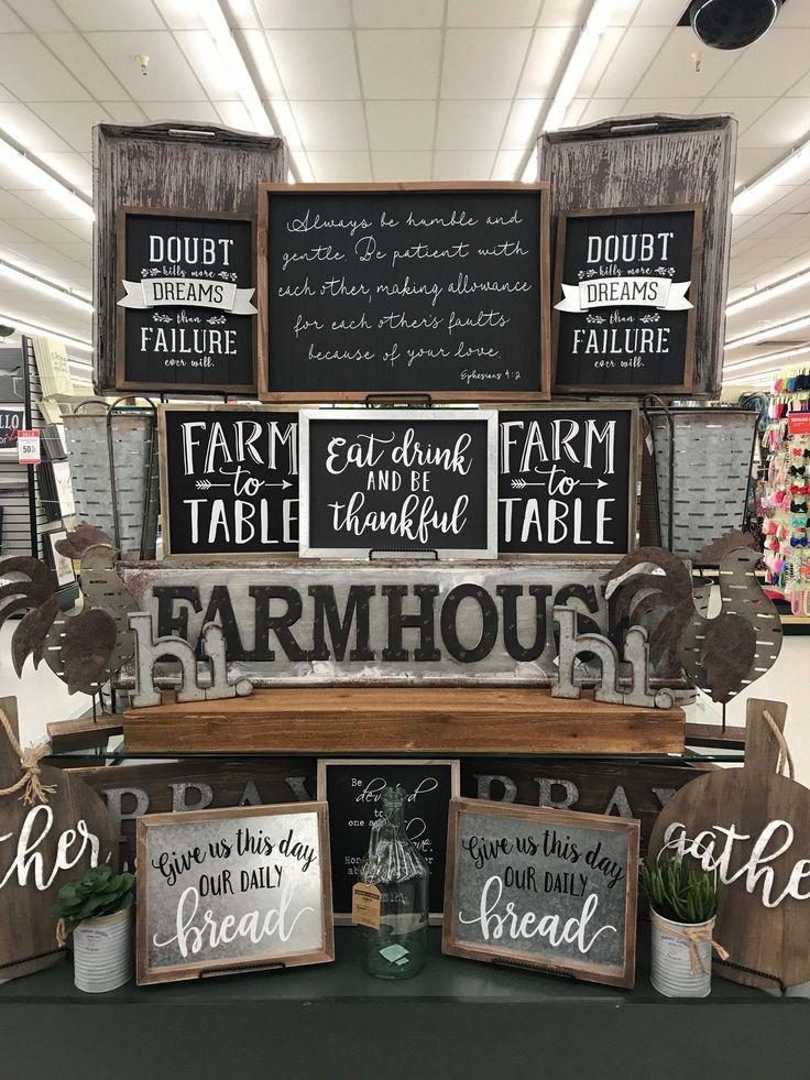 Love my Farm to Table sign. December 2017. HobbySupplies