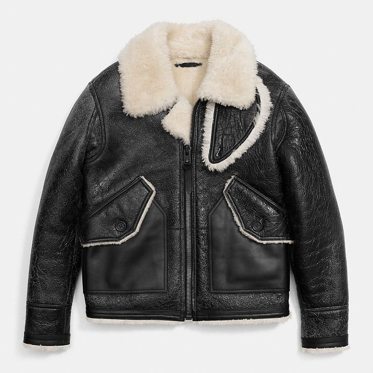Painted Shearling B3 Bomber Jacket