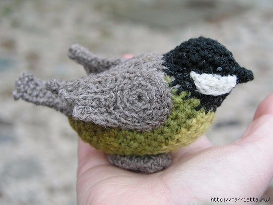 Crochet Bird + Free Pattern Step By Step