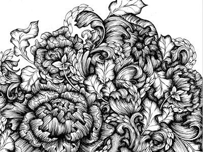 Floral pattern dribbble #tattoos