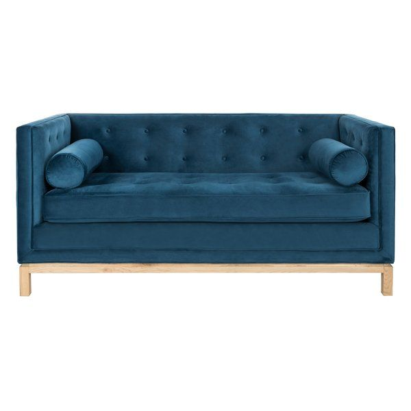 Bunny Velvet 70 08 Recessed Arm Sofa Bed Velvet Tufted Sofa