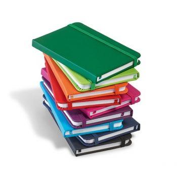 Cadernos personalizados, caderno customizados, capas de cadernos personalizadas - Caderno de anotações tipo Moleskine Europeu em 10 cores diferentes. Couro sintético. Capa dura. Com 80 folhas não pautadas. Formato: A7 Gravação em silk 1 cor