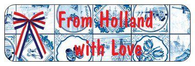 Sticker From Holland with Love www.hipenstipkaarten.nl