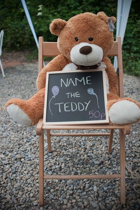 Summer Fair easy  fundraiser - name the teddy.  Does the winning name GET the teddy?