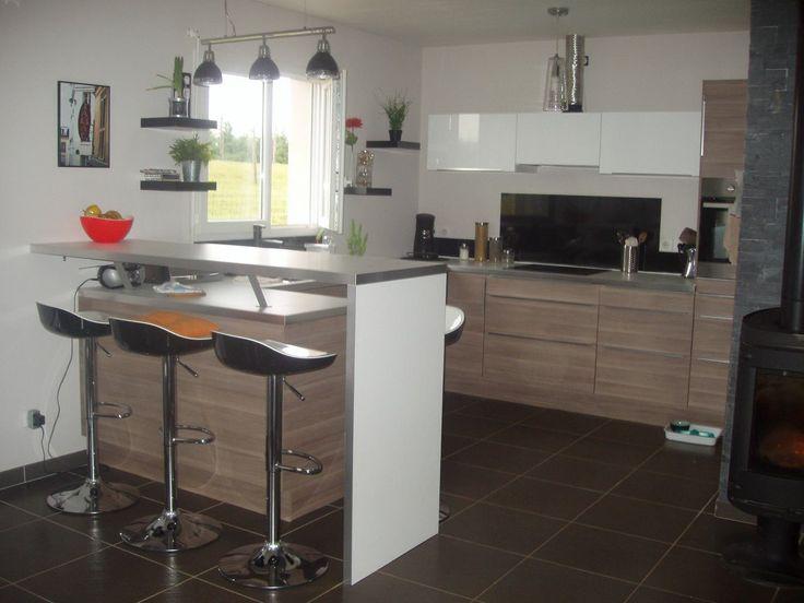 Castorama  Cuisine Unik Chêne Clair Une cuisine aux teintes - offene küche wohnzimmer trennen