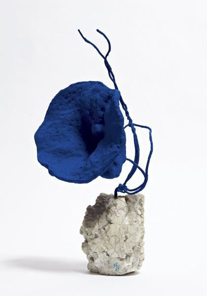 Yves Klein, 1959.  Image inspiration for a wire line sculpture.  The student can use a multimedia approach or assemblage.  The can use found materials to make organic shapes but use line (wire) for the structure or body.
