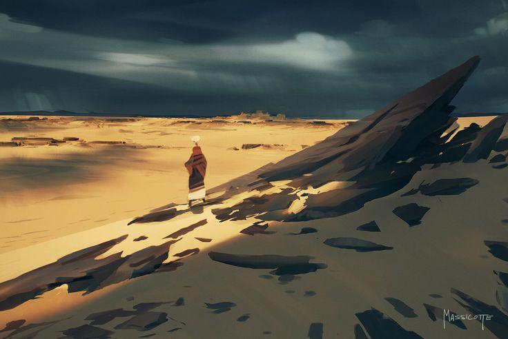 The Endless Desert, Brennan Massicotte on ArtStation at http://www.artstation.com/artwork/the-endless-desert