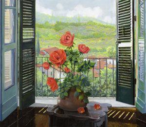 Painting - Le Persiane Sulla Valle by Guido Borelli