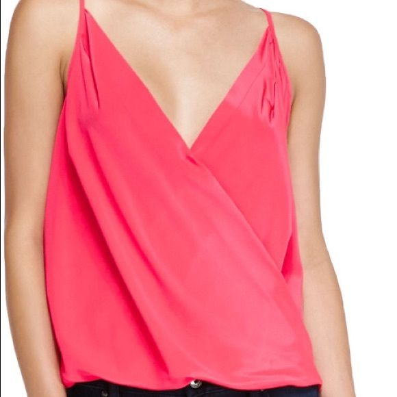 NWT Amanda Uprichard Silk Pink Crossover Cami M Amanda Uprichard - New w Tags - Medium - Hi Lo Crossover Blouse - Beautiful Color - Let me know if you have any questions! Amanda Uprichard Tops Tank Tops