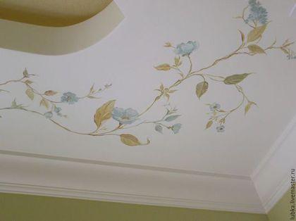 Декор поверхностей ручной работы. Декор стен, шкафа и потолка в ванной комнате. Любаша и компания. Ярмарка Мастеров. Декор шкафа