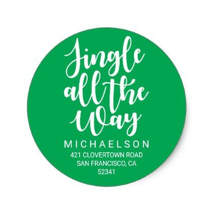 Jingle All The Way | Christmas Address Label - merry christmas diy xmas present gift idea family holidays