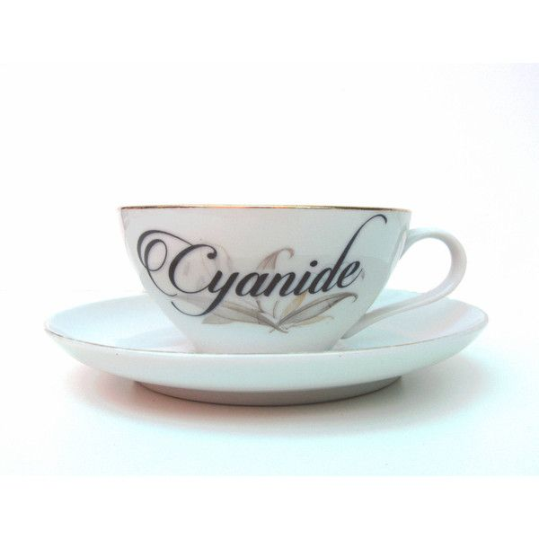Damaged Cyanide Poison Altered Vintage Teacup and Saucer (54 BRL) ❤ liked on Polyvore featuring home, kitchen & dining, drinkware, home & living, silver, vintage saucer, floral tea cups, vintage tea cups and vintage teacups
