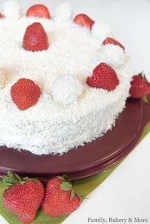 Family, Bakery & More : Erdbeer Kokostorte mit weisser Schokolade