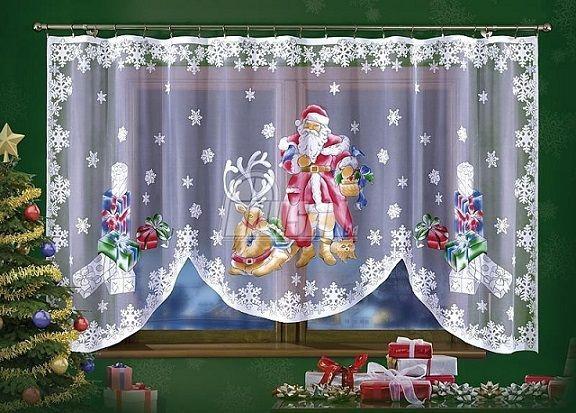 Ręcznie malowana firanka z motywem św. Mikołaja to idealny pomysł na dekorację okienną na Święta Bożego Narodzenia. Firanka ddpowiednia nie tylko do pokoju dziecięcego, ale również do salonu, czy kuchni. Ozdoba ta sprawi, że w naszym domu zawita świąteczna atmosfera.