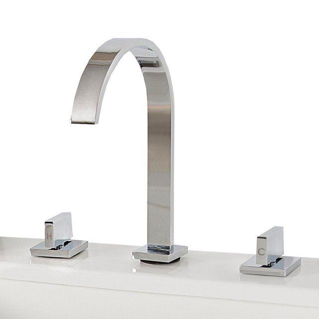 Ce superbe robinet mélangeur apportera une grande qualité de finition à votre salle de bain. La robinetterie se compose de 3 éléments, le bec verseur et les deux commandes de débit d'eau (chaud / froid), pour une utilisation simple et confortable assurant le maintient du débit d'eau à bonne température. Ce modèle standard s'adaptera à la plupart des vasques et lavabos disponibles actuellement sur le marché et assurera une utilisation sans panne pendant de nombreuses années gr...