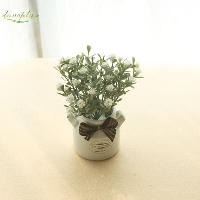 Zinmol Artificial Baby'S Breath Flower Plastic Plant Cute Fake Bonsai Table Decor For Wedding Home Hotel Party Decorations