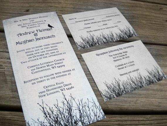101 best halloween wedding invitations stationary bottle