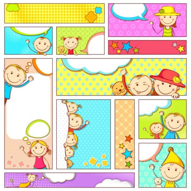 cartoon illustrator banner vector