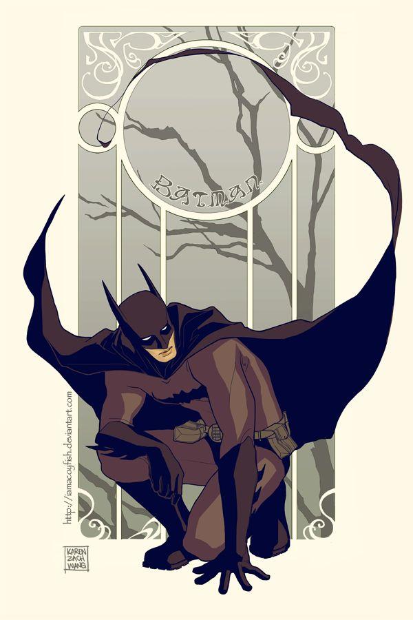 Batman Art Nouveau by Karen Zachary Wang
