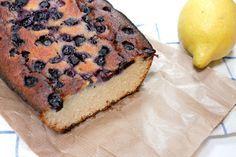 Recept: Citroen en blauwe bessen cake van kokosmeel | 365 Miles to Paris #glutenvrij | Recipe Blueberry Lemon Cake