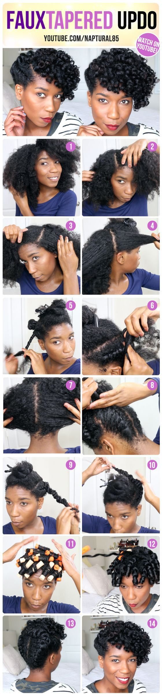 Natural hair updos get so much of love because its versatility and its contributions to help naturals to retain length as a protective hairstyle. Below are 6 quick and easy natural updo hairstyles.…