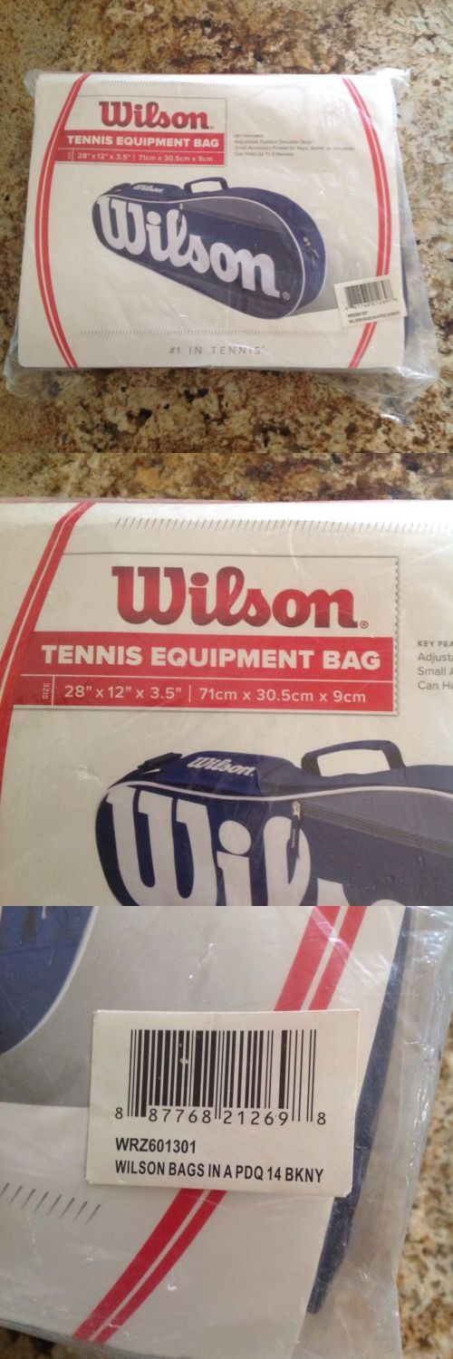 Bags 20869: Authentic Wilson Tennis Equipment Bag Blue Grey Holds Up To 3 Rackets Free Ship -> BUY IT NOW ONLY: $30.99 on eBay!