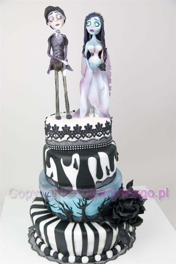 Tort weselny Gnijąca Panna Młoda Tima Burtona