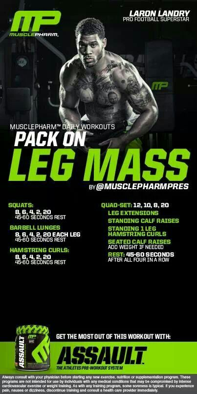 MusclePharm Pack on leg mass