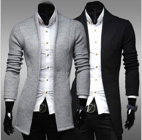 2015 New Casual Stylish Men's Cardigan Slim Fit Knit V-Neck Sweater Coat Jacket #unbranded #Cardigan