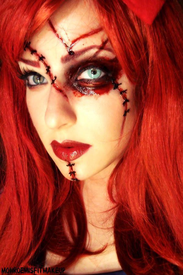 Halloween Doll Makeup | Special Effects Makeup Sponsored by HalloweenExpress.com (enter code ...